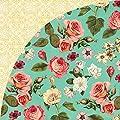 Basic Grey Tea Garden Rose Hip Vintage Floral Scrapbook Paper