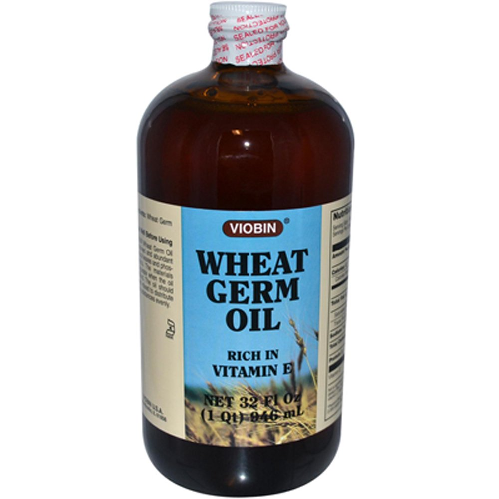 Viobin Wheat Germ Oil Liquid, 32 Fluid Ounce (Pack of 24)