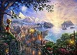 西洋絵画 ディズニーピノキオ 42x30cm Pinocchio トーマスキンケード [並行輸入品]