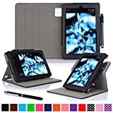 roocase Kindle Fire HD 7 2014 Case, new Kindle Fire HD 7 Dual View Folio Case with Sleep / Wake Smart Cover with Multi-Viewing Stand for All-New 2014 Fire HD 7 Tablet (4th Generation), Black