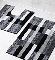 Striped Bath & Pedestal Mats