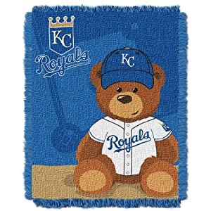 MLB Kansas City Royals Field Woven Jacquard Baby Throw Blanket, 36x46-Inch by Northwest