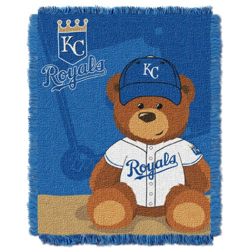 MLB Kansas City Royals Field Woven Jacquard Baby Throw Blanket, 36x46-Inch at Amazon.com