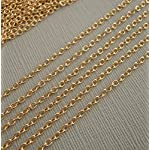 BeadsTreasure 15ft Spool-Gold Plated Oval Cross Cable Chain-2.5×2 mm