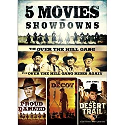 5-Movie Showdowns: The Proud and Damned / The Desert Trail / The Over the Hill Gang / The Over the Hill Gang Rides Again / The Decoy