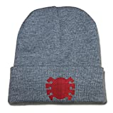 img - for ZZZB Classic Spiderman Logo Beanie Fashion Unisex Embroidery Beanies Skullies Knitted Hats Skull Caps - Grey book / textbook / text book