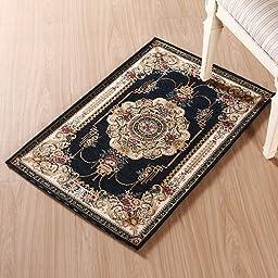 XH@G Carpet floor mats carpeted living room bathroom kitchen floor mat door mat , deep blue , 60*90cm