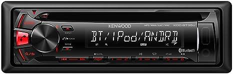 Kenwood KDC-BT35U Autoradios Bluetooth, En Façade