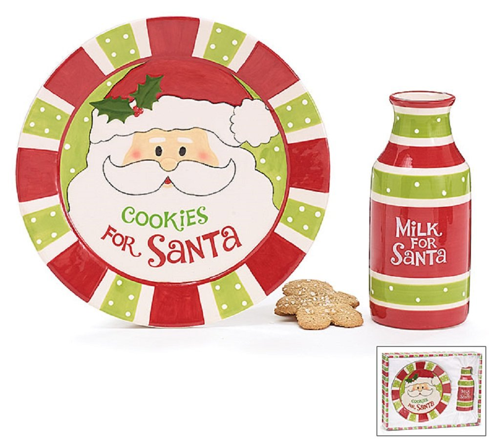 Santa Claus Cookies for Santa Plates