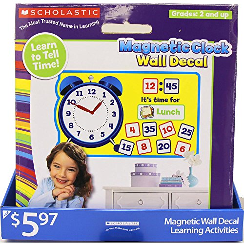 Scholastic Magnetic Clock Wall Decal