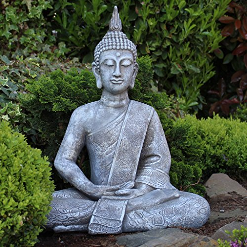buddha statue gro 65cm sitzend deko figur f r wohnzimmer. Black Bedroom Furniture Sets. Home Design Ideas