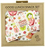 SugarBooger Set of 3 Good Lunch Snack Sack, Matryoshka Doll