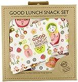 SugarBooger Set of 3 Good Lunch Snack Sack, Matryoshka Doll