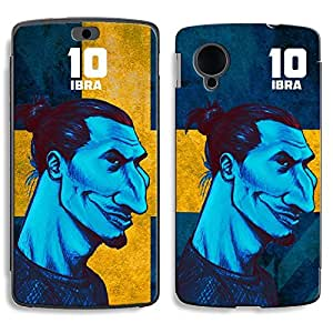 Bluegape LG Naxus 5 D821 Zlatan Ibrahimovic Football Player Phone Skin Cover, Multicolor