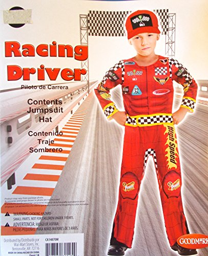 Racing Driver Red Muscle Child Costume 8 NIP