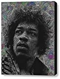 Abstract Jimi Hendrix Text Mosaic Framed 9x11 Inch Limited Edition with COA