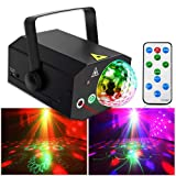 Party Lights Disco Ball Lights TONGK Dj Disco Lights LED Stage Light Projector Strobe lights Sound Activated with Remote Control for Xmas Club Bar Parties Holiday Dance Christmas Birthday Wedding (Color: Black)