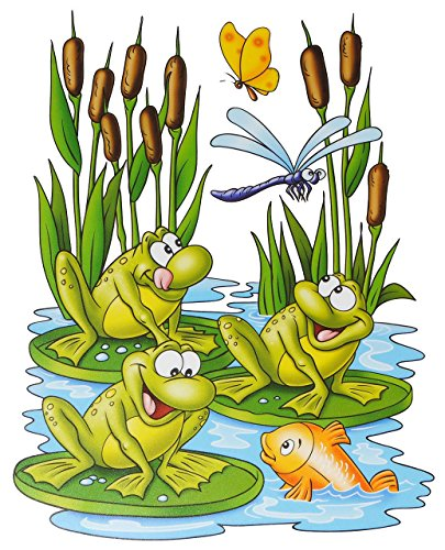 1-bogen-fensterbild-lustige-tiere-frosch-teddy-auf-der-insel-seepferd-schmetterling-sticker-fensters