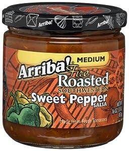 Arriba! Fire Roasted Southwestern Sweet Pepper Salsa, Medium, 16-Ounce Jars (Pack of 3)