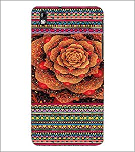 PrintDhaba Flower D-3610 Back Case Cover for HTC DESIRE 816 (Multi-Coloured)