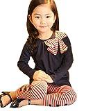 Gaorui 2pcs Baby Girl Kids Bowknot T-shirt Top+pants Leggings Trousers Outfit Clothing