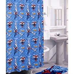 The Amazing Spider-man Shower Curtain - Vinyl Shower Curtain