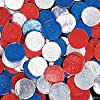 Patriotic Bubblegum Coins Candy (100 pcs)
