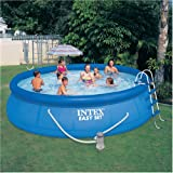 """NEW! INTEX 15' x 42"""" Easy Set Pool Complete Kit with Pump, Cover & Ladder"""