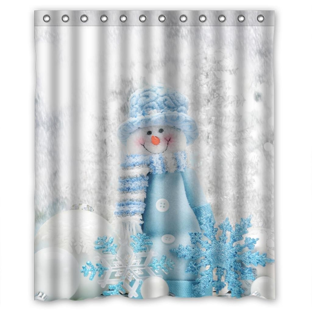 Snowman curtains
