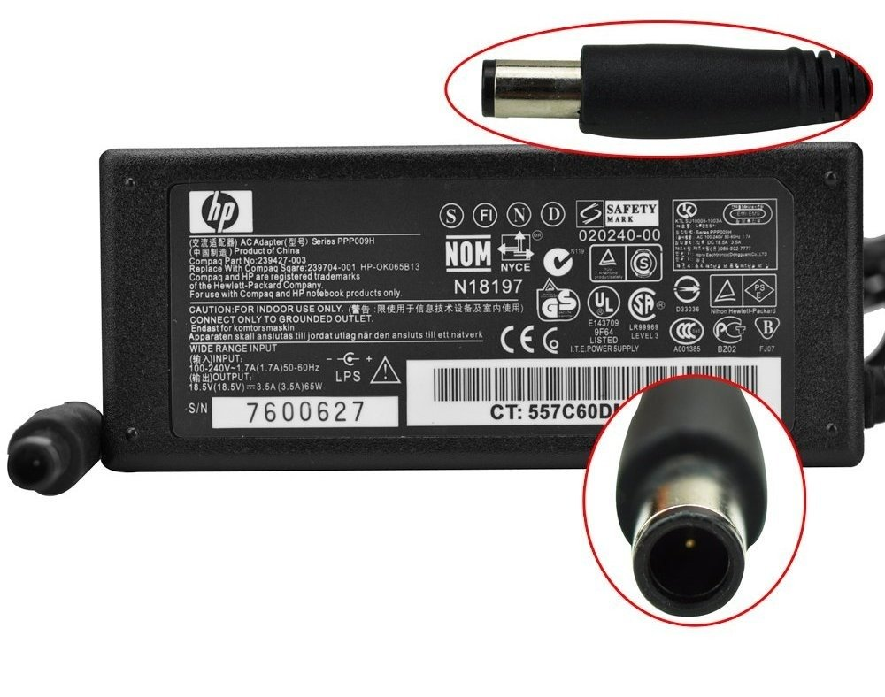 CARGADOR HP COMPAQ PRESARIO CQ51 CQ50 CQ61 18.5V 3.5A  Electrónica Comentarios