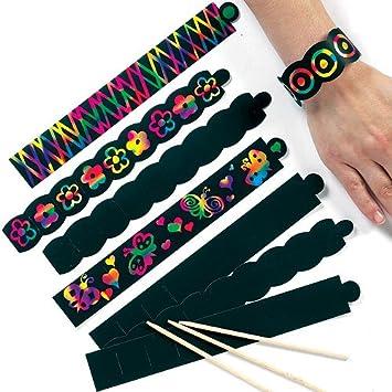 kratzbild armb nder regenbogenfarbe scratch art f r. Black Bedroom Furniture Sets. Home Design Ideas
