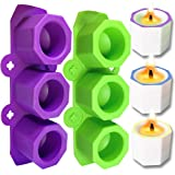 DIY Silicone Flower Pot Mold for Handmade Craft Candle Holder Wax Casting Mold Resin Moulds Cement Molds, Set of 2