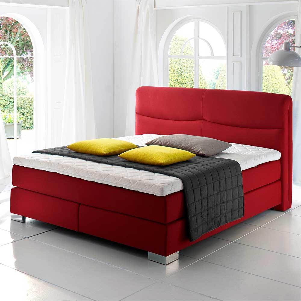 Boxbett in Rot Topper (3-teilig) Breite 184 cm Liegefläche 180×200 Pharao24 kaufen