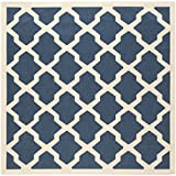 "Safavieh Courtyard Collection CY6903-268 Navy and Beige Square Area Rug, 7 feet 10 inches by 7 feet 10 inches Square (7'10"" x 7'10"" Square)"