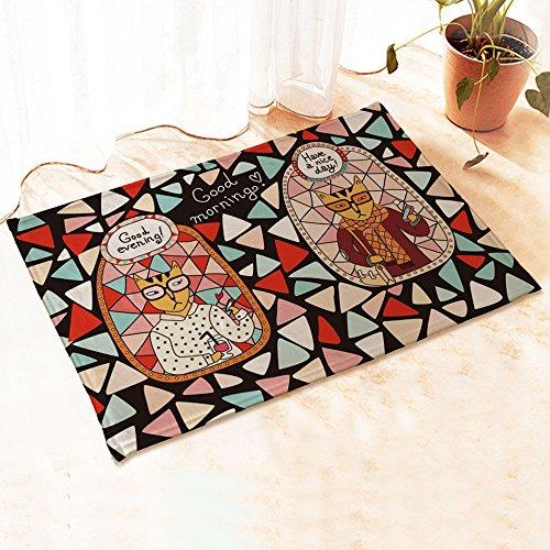 Yazi zerbini-Gatto in flanella, da Home-Tappetino piccolo, motivo: mattone, 40 x 60 cm