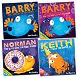 Sue Hendra Sue Hendra Pack, 4 books, RRP £23.96 (Barry The Fish With Fingers and The Hairy Scary Monster; Barry The Fish With Fingers; Keith the Cat With the Magic Hat; Norman the Slug With The Sillly Shell).