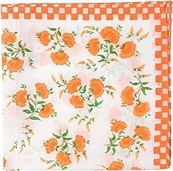 hanky ladies 4 colour(6pes pack) ladies Handkerchief (SWRG034, Orange, 12 x 15 Inch)