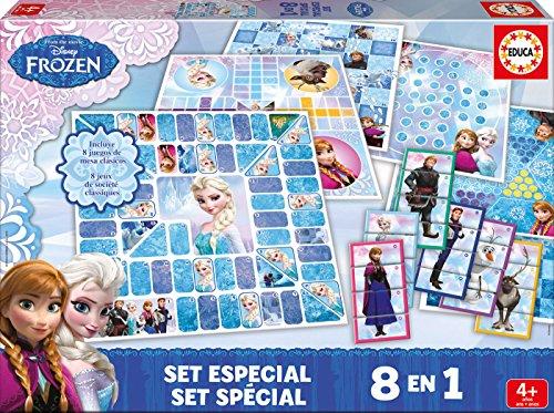 Frozen - Set de juegos, 8 en 1 (Educa Borras 16386)