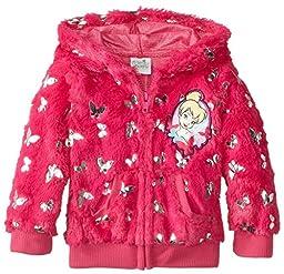 Disney Little Girls\' Toddler Tinkerbell 1 Piece Fairy Foil Hoodie, Pink, 4T