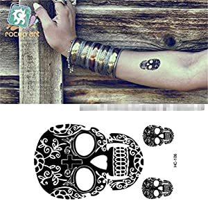 Amazon.com: Bling2Bling Skull with Flower Vine Pattern Men & Women DIY