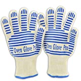 Zotoon Oven Gloves With Fingers - Extreme Heat Resistant For BBQ,Grilling,Smoking and Potholder