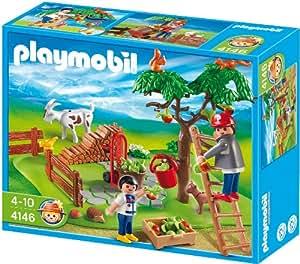 Playmobil - 4146 - Jeu de construction - CompactSet Cueillette des pommes