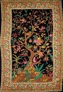 Tree of Life Tapestry-Wall Hang-Throw-Coverlet