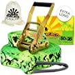 Macaco Slackline 26m Long (50mm Wide) Incl Ratchet, Bag and 'How to Slackline' Booklet!