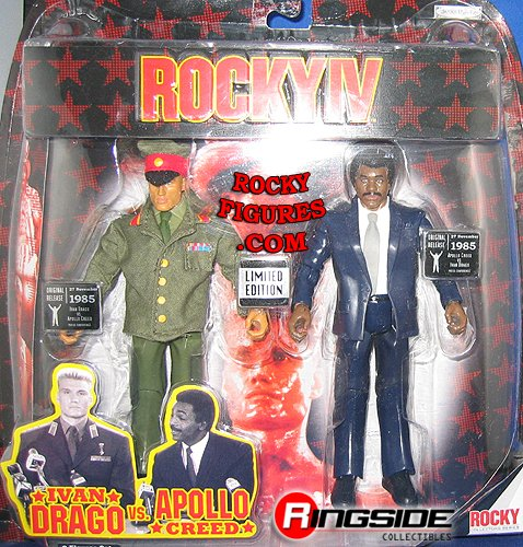 Buy Low Price Jakks Pacific IVAN DRAGO VS APOLLO CREED LIMITED EDITION RINGSIDE COLLECTIBLES EXCLUSIVE ROCKY 2-PACK ACTION FIGURES (B000VZMTUI)