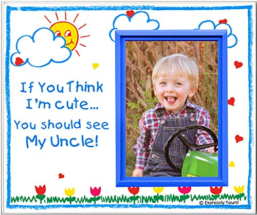If You Think I'm Cute, You Should See My Uncle - Picture Frame Gift (Uncle Picture Frame compare prices)