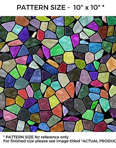 WindowPix 30 x 60 Multi-colored Victorian Pattern Window Film Static Cling Film UV Filtering Energy Saving