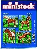 31301 - Ministeck - Pferde mit Hintergrund 4in1 ca. 3.500 Teile, 3500 Teile hergestellt von ministeck creativ