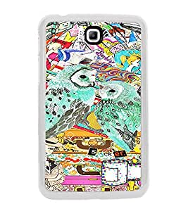 ifasho Girls and owl Back Case Cover for SAMSUNG GALAXY TAB 3 P3110