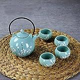 Xiduobao Fresh Style Tranditional Japanese Style Teapot Tea Set Porcelain Kungfu Tea Set Chinese Celadon Gongfu...